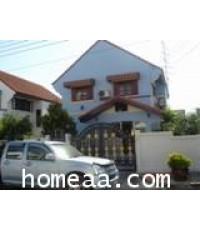 บ้านเดี่ยว 2 ชั้น หมู่บ้านเมืองเอก  บางปู จ.สมุทรปราการ เนื้อที่ 84 ตร.วา สภาพพร้อมอยู่