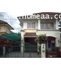 บ้านเดี่ยว 2 ชั้น หมู่บ้านลัดดารมย์ (รัตนาธิเบศร์) เนื้อที่ 59.80 ตร.วา สภาพพร้อมอยู่