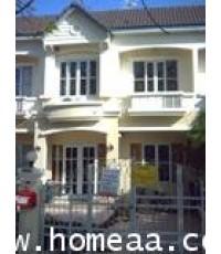 ทาวน์เฮ้าส์ 2 ชั้น หมู่บ้านบุศรินทร์ บ้านกล้วยไทยน้อย เนื้อที่ 31 ตร.วา สภาพพร้อมอยู่