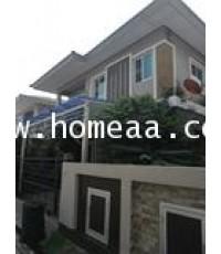 บ้านเดี่ยว 2 ชั้น ม.นิชชารมณ์ ราชพฤกษ์-รัตนาธิเบศร์ เนื้อที่ 50 ตร.วา ซ.ท่าอิฐ ปากเกร็ด นนทบุรี