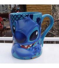 แก้วเซรามิค,ดิสนีย์เบบนูนลาย stitch ( สติช )