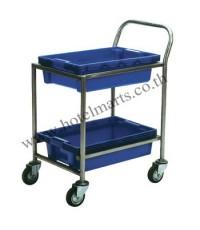 โครงรถเข็นพร้อมลังพลาสติก สีน้ำเงิน VB01-041
