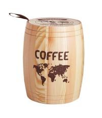 โถไม้ใส่เมล็ดกาแฟ  ใหญ่ 1610-205
