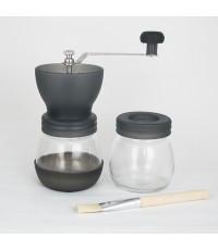 ชุดเครื่องบดกาแฟ มือหมุน มีขวดแก้ว 2 ขวด+แปรงปัดผงกาแฟ 1614-039