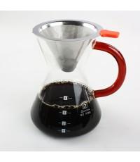 ชุดดริปเปอร์ ชงกาแฟแบบหยดน้ำ โถแก้ว 4 ถ้วย Coffee dipper set 1610-267