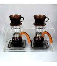 ดริปสเตชั่น อะคริลิค กรองกาแฟ 2 ถ้วย  1610-274