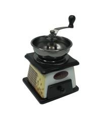 เครื่องบดกาแฟ มือหมุน ไม้สีดำ เซรามิคสีดำ 1614-080