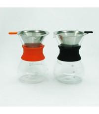 โถแก้วทำกาแฟดริป ชงกาแฟแบบหยดน้ำ โถแก้วขนาด 3 ถ้วย  Coffee server for dripper  1610-321