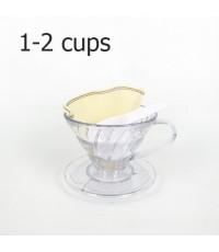 ถ้วยดริปหรือถ้วยกรองกาแฟรูเดี่ยว 1-2 ถ้วย 1610-364