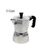 มอคค่าพอท (MOKA POT)หม้อต้มกาแฟสด อลูมิเนียม 3 ถ้วย 1614-099