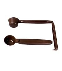 ช้อนตักกาแฟ ด้ามจับเป็นคลิปหนีบปากถุง Coffee spoon with Bag cliper 1610-387