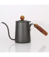 กาต้มน้ำดริปกาแฟเทฟล่อน ด้ามจับไม้  600 CC. 1610-512