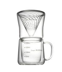 ชุดทำกาแฟดริป พร้อมแก้ว 2 ชั้น Koonan 1610-532