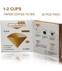 กระดาษกรองกาแฟ Koonan ทรงกรวย กระกรองสีขาว สำหรับถ้วยกรอง 1-2 ถ้วย 1610-556