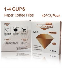 กระดาษกรองกาแฟ Koonan ทรงกรวย กระดาษกรองสีขาว สำหรับถ้วยกรอง 1-4 ถ้วย 1610-557