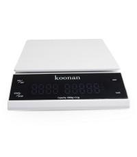 ตาชั่ง KOONAN ดิจิตอล LED ทัชกรีน ชงกาแฟดริป ชั่งได้ 0.5g-3000g สีขาว 0609-103-C05