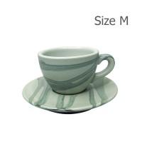 ถ้วยคาปูซิโน่ 155 CC. (Size M) ถ้วยกาแฟ ลาย X1 1618-057
