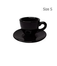 ถ้วยเอสเปรสโซ่ 65 CC. (Size S)ถ้วยกาแฟลาย Glossy Black 1618-054
