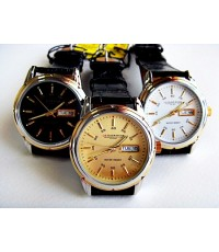นาฬิกาข้อมือสายหนัง US SUBMARINE หน้าปัดกลม 2 กษัตริย์
