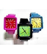 นาฬิกาข้อมือแฟชั่น หน้าปัดเหลี่ยม
