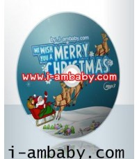We Wish You A Merry Christmas by i-ambaby.com 300 Songs Christmas gift for you [1 DVD] [MP3] 1 แผ่น
