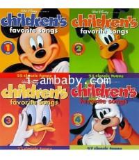 Walt Disney Records Children\'s Favorite Songs Vol. 1 - 4 [ซีดีเพลง] 4 แผ่น