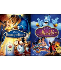 Beauty And The Beast, Aladdin 2 in 1 HD2DVD 1 Disc