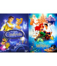 Cinderella, The Little Mermaid 2 in 1 HD2DVD 1 Disc