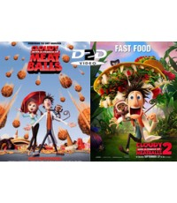 Cloudy with a Chance of Meatballs Duology[2009-2013]+4 Short Films HD2DVD1Disc