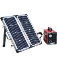 เครื่องสำรองไฟ แบบแผง Solar Cell พลังแสงอาทิต Battery 33AH 10A