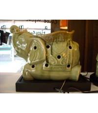 J12-Burner ช้างใส่น้ำมันหอม ใช้ไฟ (ไม่รวมหลอด)