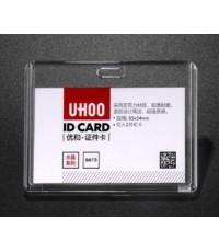 ideecraft กรอบใส่บัตรพนักงาน กรอบพลาสติกใส acrylic แนวนอน UHOO ใส่บัตรได้ 1-2 ใบ สวยใสทน