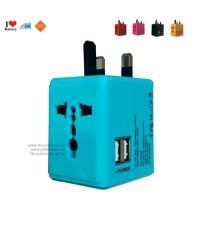 Universal Plug หัวปลั๊กไฟอเนกประสงค์ พร้อมช่อง USB 1A 2port