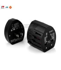 Universal Plug หัวปลั๊กไฟอเนกประสงค์ มาพร้อมหัวต่อเสียบช่อง USB 1A 2port