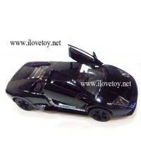 รถเหล็ก ลัมโบกินี่ Lamborghini สีดำ รุ่นประตูเปิดขึ้นด้านบน มีลาน ดันถอยหลัง วิ่งเดิน