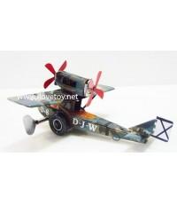 """ของเล่นสังกะสี Tintoy \"""" เครื่องบินรบลายทหาร \"""" ไขลานวิ่งได้ น่าสะสมมากๆ"""