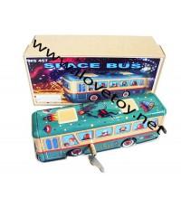 ของเล่นสังกะสี Tintoy รถบัสอวกาส Space Bus ลายสวยมาก ไขลานวิ่งได้