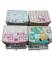 กล่องไม้ลายกระต่ายใส่ของกระจุกกระจิก มี 4 ลาย (ราคาต่อ 1 แบบ)