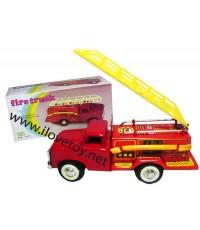 ของเล่นสังกะสี Tintoy รถดับเพลิง ขนาด กว้าง 5.5, ยาว 15, สูง 7.5 ซ.ม.