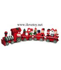 ขบวนรถไฟคริสมาสต์ งานไม้ มีกล่อง