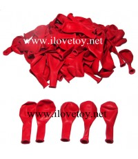 ลูกโป่งกลมเล็กสีแดง 1 กิโล บรรจุ 100 ใบ โดยประมาณ ลูกโป่งปาเป้า
