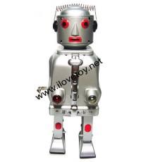 ของเล่นสังกะสี Tintoy Mr.Robot The Machanical Brain หุ่นยนต์หัวสริงค์สีบรอนซ์มีไฟหน้า 2 ดวง
