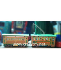 ของเล่นสังกะสี Tintoy Circus รถไฟฟ้าเขียว 2 โบกี้