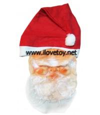 หน้ากากซานตาครอส พร้อมหมวก santa claus mask with hat