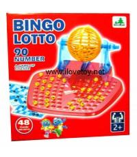บิงโก Bingo Lotto 90 Number 48 Cards ตัวใหญ่ สีสวย น่าเล่น