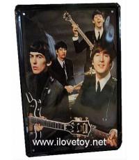 แผ่นสังกะสีลาย สี่เต่าทอง The Beatles ขนาดกว้าง 20 x สูง 30 ซ.ม.