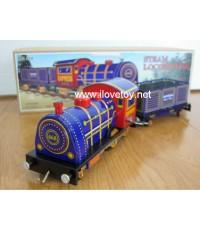 ของเล่นสังกะสี Tintoy หัวจักรรถไฟพร้อมขบวนบรรทุกต่อพ่วง ไขลานวิ่งได้