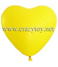 ลูกโป่งรูปหัวใจสีเหลือง 1 ถุง  บรรจุ 90 ลูก (โดยประมาณ)