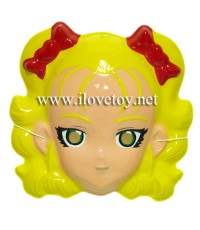 หน้ากากพลาสติก Plastic Mask  แคนดี้สีเหลือง Candy
