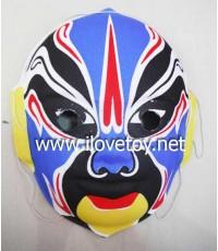 หน้ากากพลาสติก Plastic Mask หน้ากากงิ้ว มียางรัด รุ่นผิวด้าน